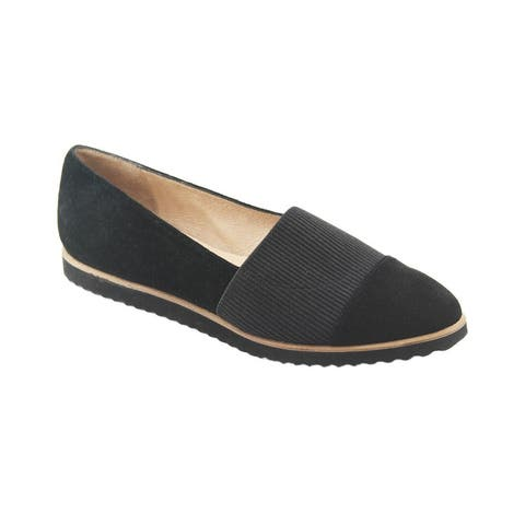 French Sole Exeter Suede Flat