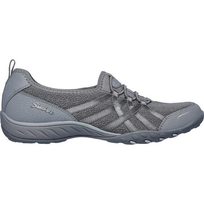 Skechers Women's Relaxed Fit Breathe Easy Envy Me Sneaker Gray