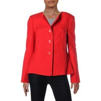 Le Suit Womens Galapagos Collarless Blazer Textured Office - 10