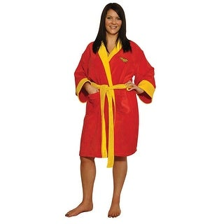 DC Comics Wonder Woman Red Fleece Bathrobe
