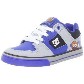 DC Pure WG Skate Sneaker (Little Kid) - black/nautical blue - 2 m us little kid