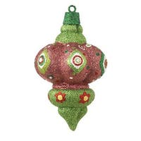 "5"" Christmas Brites Sparkling Glittered Pink Finial Christmas Ornament - multi"