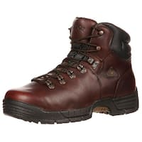 "Rocky Work Boots Mens 6"" Mobilite ST Waterproof Dark Brown"