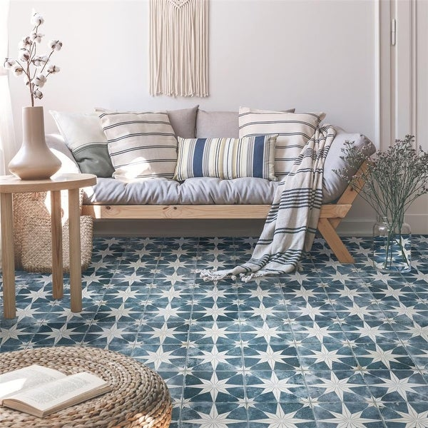 SomerTile 17.63 x 17.63-Inch Royals Estrella Sky Ceramic Mosaic Floor and Wall Tile. Opens flyout.