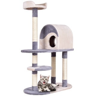 Gymax 48'' Cat Tree Kitten Activity Tower Furniture Condo w Perches Scratching Posts