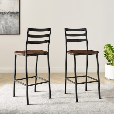 Carbon Loft Ladder Back Counter Stools (Set of 2)