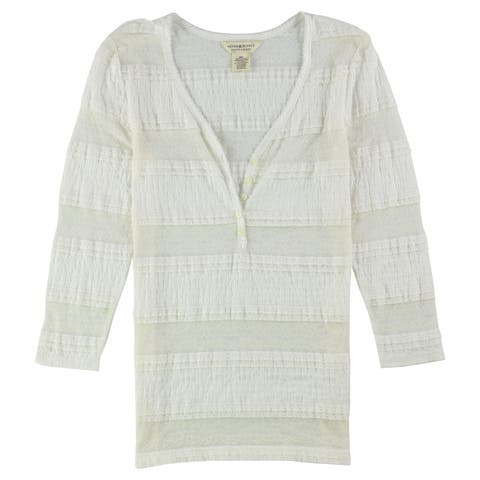 Ralph Lauren Womens Lace Henley Shirt
