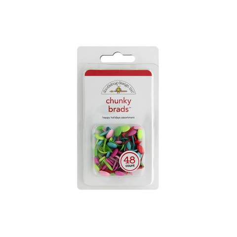 Doodlebug Brads Chunky 48pc Happy Holidays