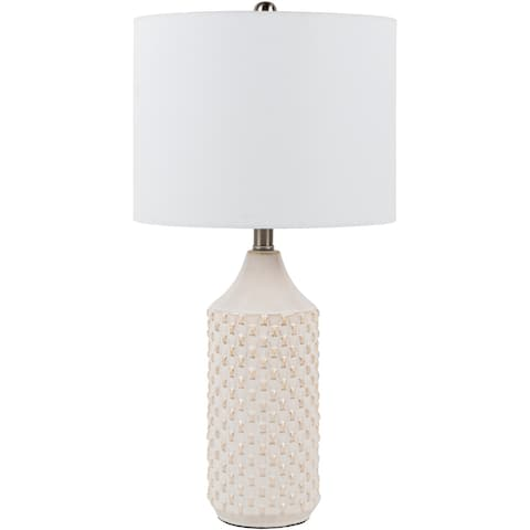 """Pio 25-inch Tall Traditional Ceramic Table Lamp - 25""""H x 13""""W x 13""""D"""