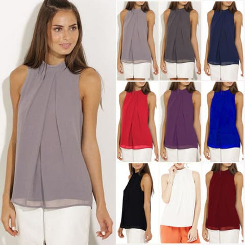 0b2237153a3abb Buy Sleeveless Shirts Online at Overstock | Our Best Tops Deals
