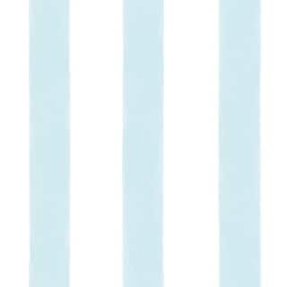 Brewster DLR54562 Waterside Aqua Stripe Wallpaper