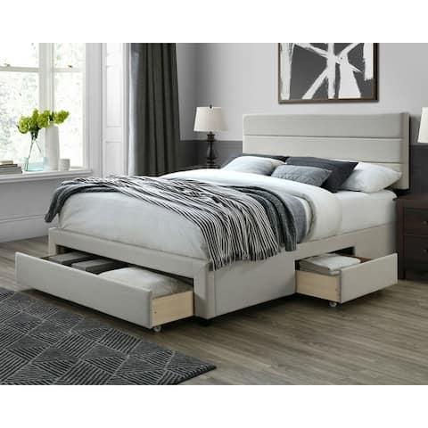 DG Casa Flynn Upholstered Storage Bed