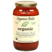 Organico Bello Kale Basil Pasta Sauce - Tomato - Case of 6 - 25 oz.