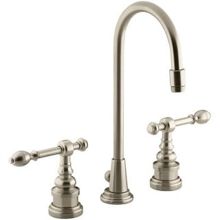 Kohler K-6813-4 IV Georges Brass Widespread Bathroom Faucet with Ultra-Glide Valve Technology - Free Metal Pop-Up Drain Assembly