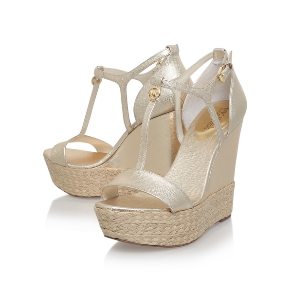 Michael Kors Womens Kerri Leather Open Toe Casual Platform Sandals