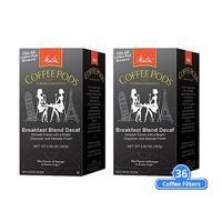 Melitta 75413 Breakfast Blend Decaf 18 Counts (2-Pack) Breakfast Blend Decaf Coffee Pods