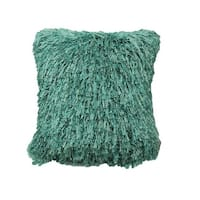 20 x 20 in. Shiny Shag Surf Poly Filled Decorative Throw Pillow