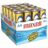 Maxell 723453 - Lr620Mp Alkaline Batteries (Aa; 20 Pk; Brick)