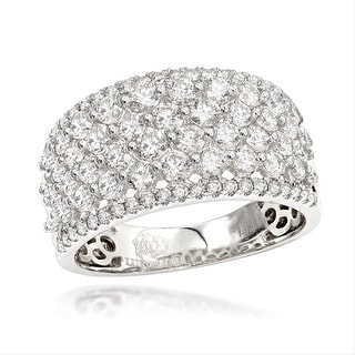 Link to Luxurman Unique Bands Women's 14k Gold Wide 2ct Diamond Ring Similar Items in Wedding Rings