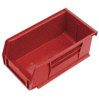 "Quantum QUS220RD Polypropylene Storage Bin, 6-3/4"" x 3-7/16"" x 2-13/16"", Red"