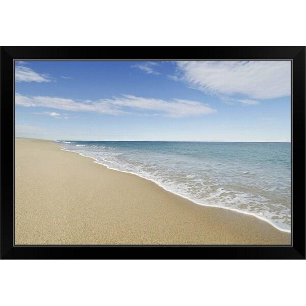 """Nantucket Beach"" Black Framed Print"