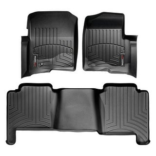WeatherTech 44005-1-2 Black Front & Rear FloorLiner: Ford F-150 2004-08 (Super Crew), Lincoln Mark LT 2006-08