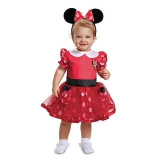 Infant Girls Red Minnie Mouse Dress Halloween Costume
