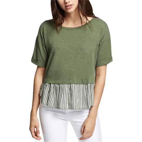 Sanctuary Clothing Womens Cadet Skye Basic T-Shirt, Green, Medium