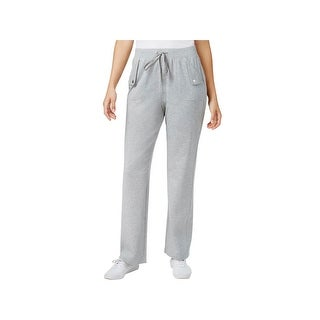 Karen Scott Sports Womens Petites Pants French Terry Pull On