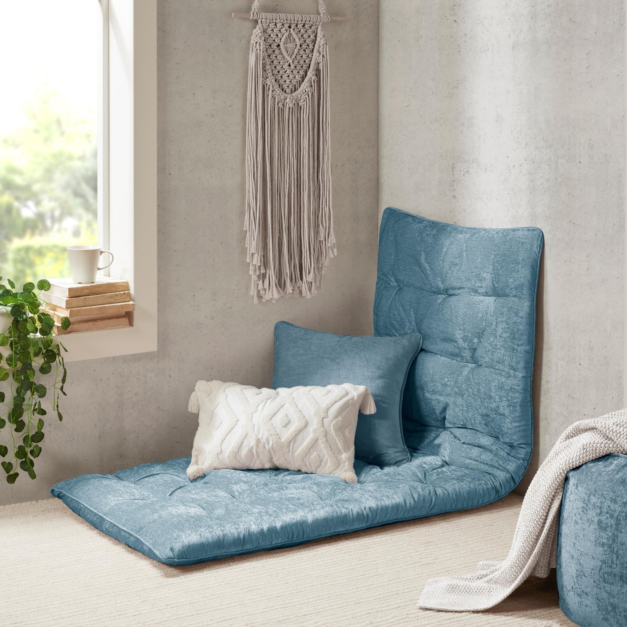 Intelligent Designs Arwen Poly Chenille Lounge Floor Pillow On Sale Overstock 21516854