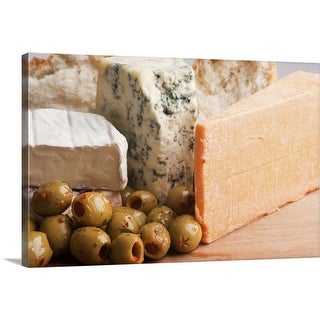 """""""chese and olives"""" Canvas Wall Art"""