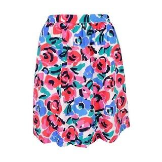 Tommy Hilfiger Women's Floral-Print A-Line Skirt - Multi