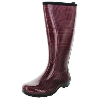 Kamik Checks Women's Waterproof Rain Boots Plaid