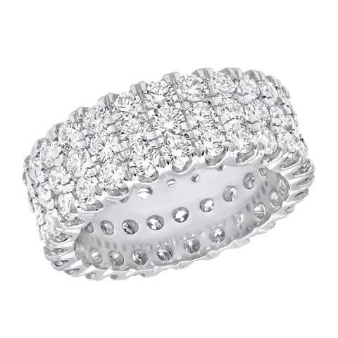 Ladies Eternity Band Anniversary Round Diamond Ring 4.83ctw in Platinum by Luxurman