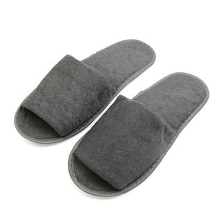 1 Pair Gray Foldable Disposable Slipper Hotel Spa Guest Slippers for Men