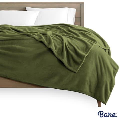 Bare Home Microplush Fleece Blanket - Ultra-Soft Velvet Bed Blanket