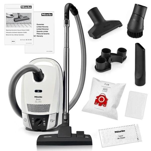 Miele Compact C2 Quartz Canister Vacuum Cleaner + SBD285-3 Combination Rug and Floor Tool + More