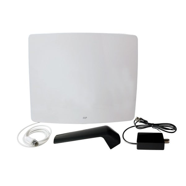 Monoprice Active Curved HD5 HDTV Antenna, 60 Mile Range