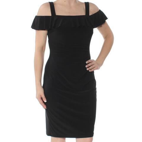 AMERICAN LIVING Black Sleeveless Knee Length Sheath Dress Size 2