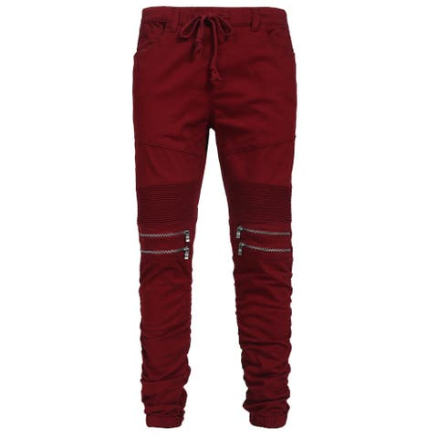 NE PEOPLE Mens Elastic Front Zipper Jogger Pants S-3XL [NEMP20]