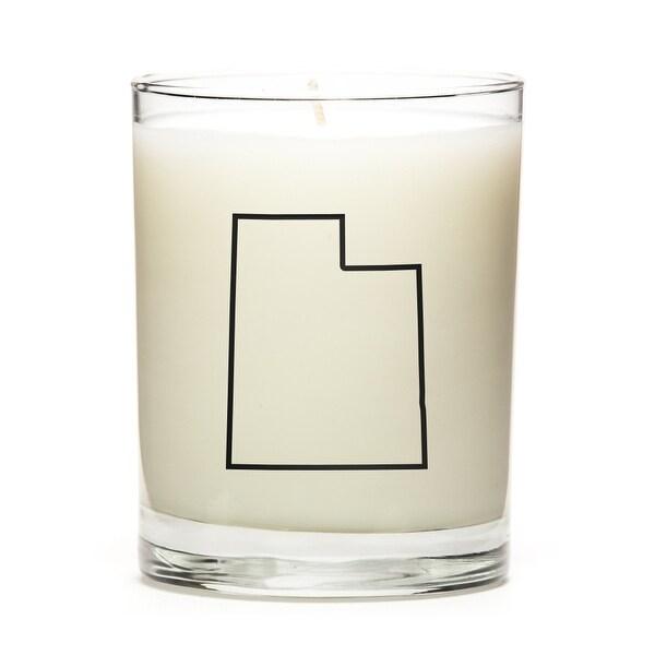 State Outline Candle, Premium Soy Wax, Utah, Apple Cinnamon