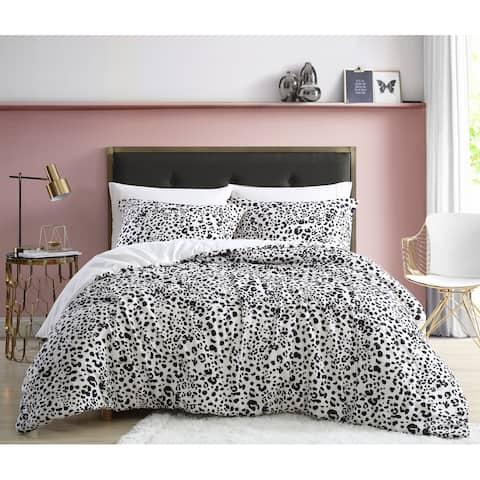 Betsey Johnson Water Leopard Reversible Duvet Cover Set