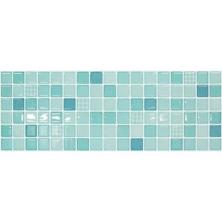 BeausTile Decorative Mint Moroccan 4-piece Decorative Adhesive Faux Tile Sheets