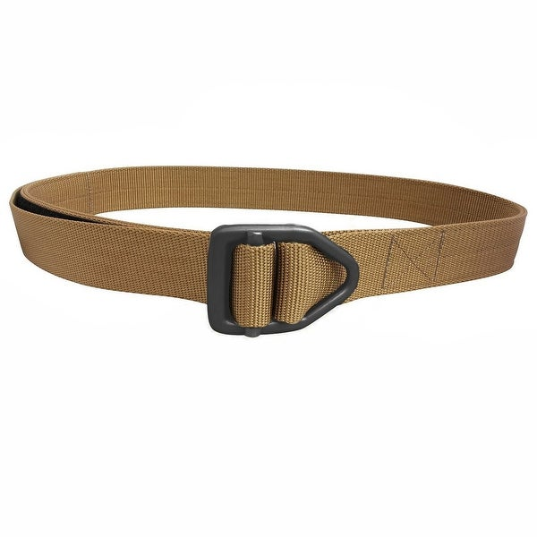 Bison Designs Last Chance Heavy Duty Black Buckle Belt - Coyote Brown