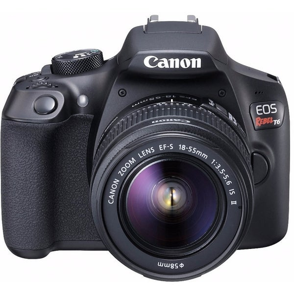 Canon EOS Rebel T6 DSLR Camera w/ EF-S 18-55mm f/3.5-5.6 IS II Lens. Opens flyout.