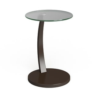 """Porch & Den Shilshole Tempered Glass/ Bentwood Accent Table - 23.75"""" x 17.75"""""""