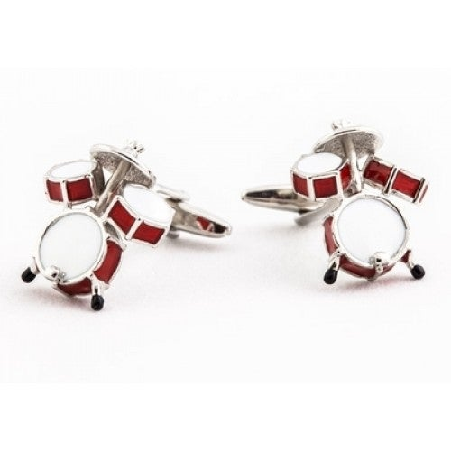 Drum Kit Band Practice Drummer Music Concerts Cufflinks
