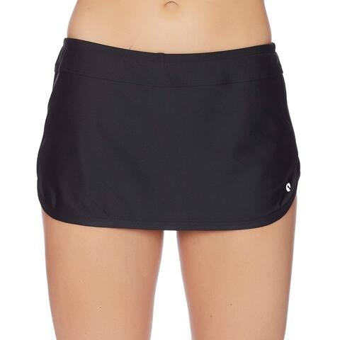 Next Women's Lotus Bikini Swimsuit Skort, Good Karma Black,, Black, Size X-Large