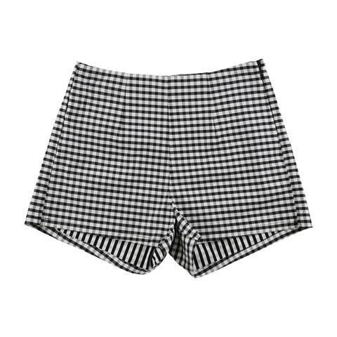 Guess Womens Gingham Casual Mini Shorts