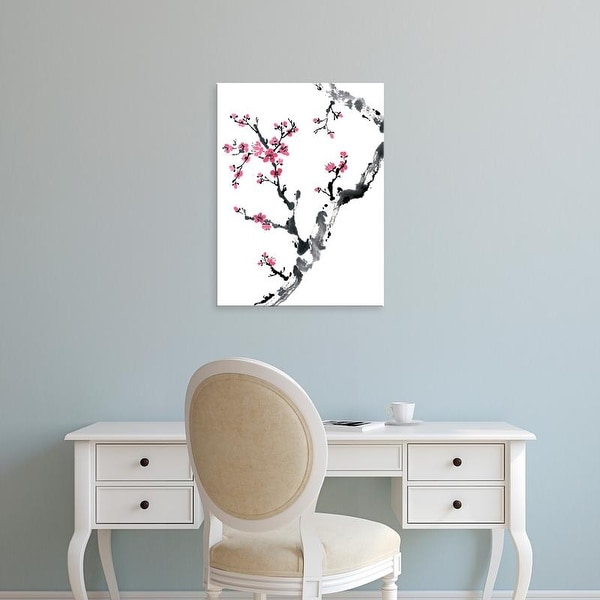 Easy Art Prints Nan Rae's 'Plum Blossom Branch II' Premium Canvas Art